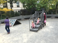 Three pigs at the playground!